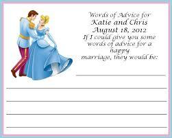 wedding advice card wedding advice card