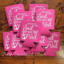 wedding favor koozies set of 10 last sail before the veil koozies can cooler coozie