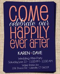 Post Wedding Invitations Wedding Invitation Wording After Party Matik For