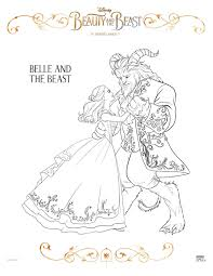 sasaki time beauty and the beast 2017 coloring sheets