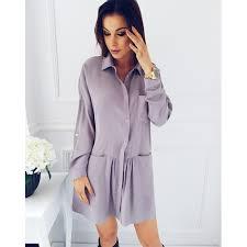 women u0027s casual pockets turn down collar long sleeves fashion loose