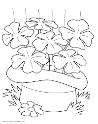 st patrick u0027s day coloring pages clover
