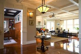 Coffered Ceiling Lighting by Craftsman Coffered Ceiling Kitchen Traditional With Stone