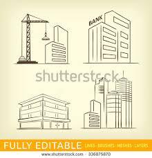 corporation business building big company sketch stock vector