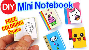 how to make a mini coloring notebook step by step super easy
