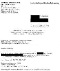 Cfe Centre De Formalités Des Entreprises Chambre D Maj 3 17 05 15 Siret Entreprise Agricole Et Apiculture Les