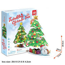 free shipping creative diy 3d puzzle sparkling tree