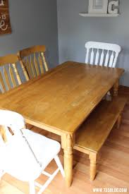 Chalky Finish Paint Dining Room Table Makeover Inspiration Made - Painting a dining room table