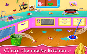 my baby doll house tea party u0026 cleaning game android apps on