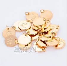 necklace pendant wholesale images Wholesale top quality a z gold color charms letter stamp initial jpg