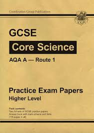 gcse core science aqa a route 1 practice papers higher amazon