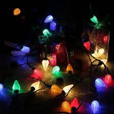 faceted c6 100 led lights 120v ul multi color brizled
