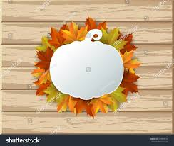 Thanksgiving Leaf Template Autumn Maple Leaves Background Thanksgiving Template Stock Vector
