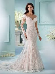 lace long sleeved fit u0026 flare wedding dress 216239 maisie lace