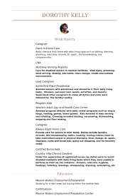 caregiver resume samples visualcv resume samples database