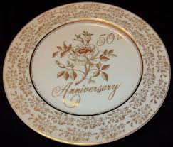 50th anniversary plates 50th wedding anniversary plate norcrest china golden