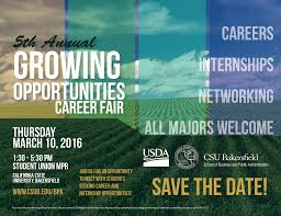 Csub Map Growing Opportunities Career Fair 2016 California State
