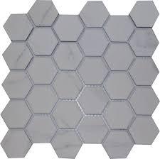 coulson tiles hex decor porcelain carrara hexagon white mosaic
