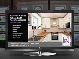digital window estate agent window digital displays