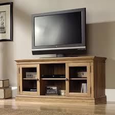 home theater tv cabinets sauder 42 in barrister lane corner tv stand salt oak hayneedle