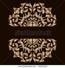 vector set vintage ornaments style stock vector