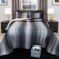 Midnight Colors For Your Bedroom Purple Charcoal Linen Bedding Lavish Home Striped 2 Piece Charcoal And Silver Metallic Twin