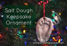 at simple salt dough keepsake ornament