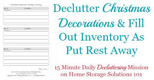 printable storage inventory form keep track of decorations