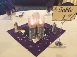 Dollar Cylinder Vases Frosted Cylinder Vases Containing Sand And A Purple Votive Purple