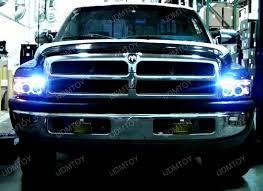 dodge ram headlight 94 01 dodge ram chrome dual halo projector led headlights