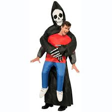 inflatable grim reaper illusion costume the green head