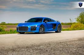 audi r8 chrome blue the all new rohana rfx10 wheels in matte black looks amazing on