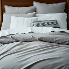 organic washed cotton duvet cover shams platinum west elm