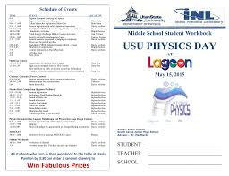 2015 middle workbook usu physics day at lagoon