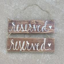 metal reserved table signs hanging rustic reserved wedding sign set from hollowcreekprims on