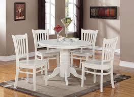Ohana White Round Dining Table Casual Kitchen Dining Tables Within - Ohana white round dining room set