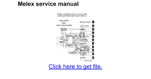 melex service manual google docs