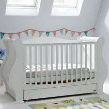 Cot Bed Nursery Furniture Sets by Tutti Bambini Louis Cot Bed In White Sprung Mattress Costco Uk