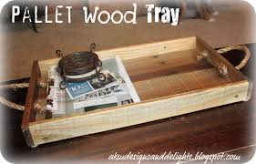 akm designs and delights diy homemade pallet wood tray