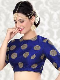 readymade blouse attractive silk blue ready made blouse for price or detail do