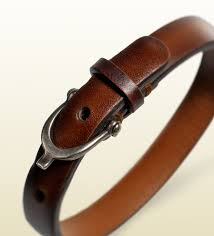leather bracelets for men gucci leather bracelet with stirrup buckle in brown for men lyst
