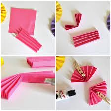 paper fans diy easy breezy ultra diy project mini paper fans