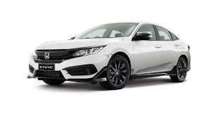 honda white car honda civic black pack option unveiled