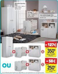 carrefour promotion armoire à 2 portes lit