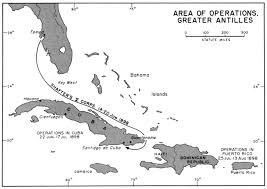 Spain Map Quiz by Greater Antilles 1898 Jpg