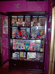 statues and superheroes comic book storage and display