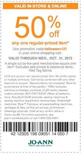 Joann Fabrics Website Jo Ann Fabric 50 Off Printable Coupon