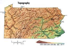 Topical Map Of United States by Topographic Map Of Pennsylvaniafree Maps Of Us