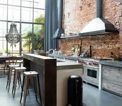 cuisine style loft industriel cuisine cuisine moderne dans un style loft industriel mur en
