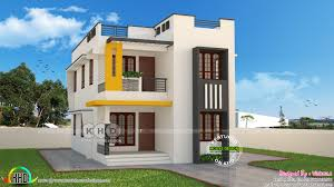 Home Design Plans 1600 Square Feet by Cute And Stylish Contemporary Home 1600 Sq Ft Kerala Home Design